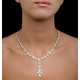 Diamond Necklace Vintage Halo 8.30ct H/Si in 18K White Gold - image 4