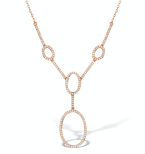 Vivara Collection 0.55ct Diamond and 9K Rose Gold Necklace D3403 - image 1