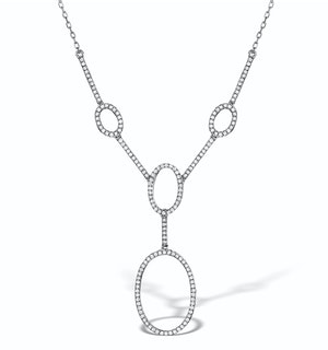 Vivara Collection 0.55ct Diamond and 9K White Gold Necklace D3403y