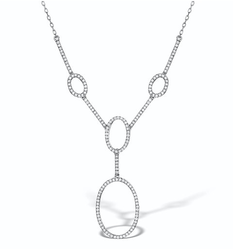 Vivara Collection 0.55ct Diamond and 9K White Gold Necklace D3403y - image 1