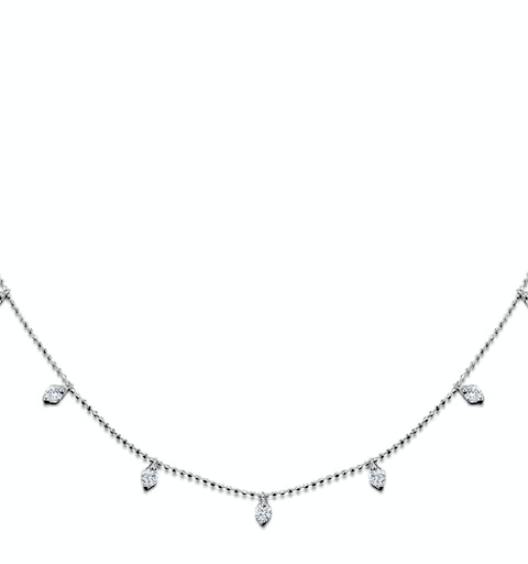 Vivara Collection 1.00ct Diamond and 18K White Gold Necklace D3400 - image 1