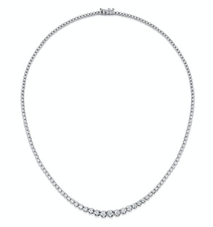 Lab Diamond Tennis Necklace 5ct H/Si Quality in 9K White Gold