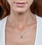 Emerald and Diamond Stellato Necklace 0.13ct in 9K White Gold - image 2