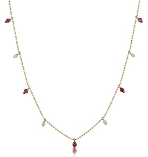 Ruby and Diamond Necklace in 18K Gold - Vivara Collection