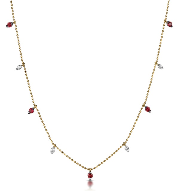 Ruby and Diamond Necklace in 18K Gold - Vivara Collection - image 1