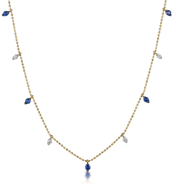 Sapphire and Diamond Necklace in 18K Gold - Vivara Collection - image 1