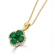 Emerald 1.04ct and Diamond 18K Yellow Gold Alegria Necklace - image 2