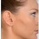 Blue Topaz 4mm 9K Yellow Gold Earrings - image 2
