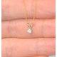 Diamond Solitaire Necklace 0.10CT Diamond 9K Yellow Gold - image 3