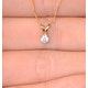 Diamond Solitaire Necklace 0.15CT Diamond 9K Yellow Gold - image 3