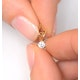 Diamond Solitaire Necklace 0.15CT Diamond 9K Yellow Gold - image 4