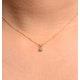 Diamond Solitaire Necklace 0.15CT Diamond 9K Yellow Gold - image 2