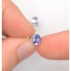 Tanzanite 5 x 4mm (0.70ct) 9K White Gold Earrings - image 3