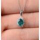 Emerald 7 x 5mm And Diamond 9K White Gold Pendant - image 3