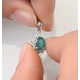 Emerald 7 x 5mm And Diamond 9K White Gold Pendant - image 4