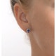 Tanzanite 6 x 4mm And Diamond 9K Yellow Gold Earrings  B3680 - image 4