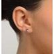 Tanzanite 5 x 4mm 9K Yellow Gold Earrings - image 4
