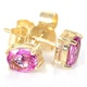 Pink Sapphire 0.45ct 9K Yellow Gold Earrings - image 2