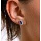 Tanzanite 6 x 4mm And Diamond 9K Yellow Gold Earrings - image 4