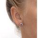 Pink Sapphire 6 X 4mm and Diamond 9K Yellow Gold Earrings B3696 - image 3