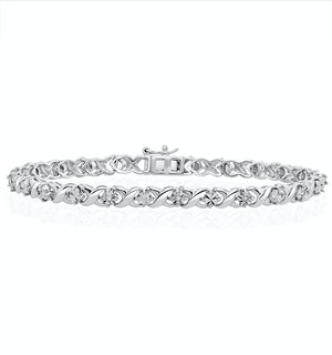 Diamond Kisses Bracelet With 0.05ct Set in 925 Silver