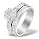 Matching Diamond Engagement and Wedding Ring 1.46ct Platinum - DN3223 - image 1