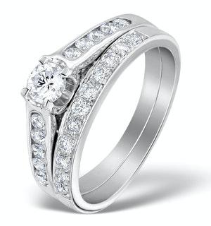 Matching Diamond Engagement and Wedding Ring 0.71ct Platinum