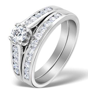 Matching Diamond Engagement and Wedding Ring 0.86ct Platinum