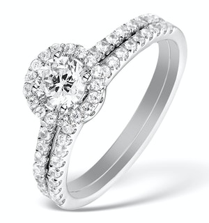Matching Diamond Engagement and Wedding Ring 1ct SI2 18K Gold - DN3242