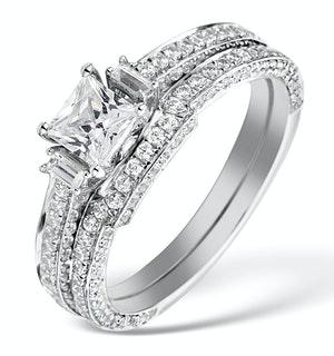 Matching Diamond Engagement - Wedding Ring 1.25ct SI2 18K Gold