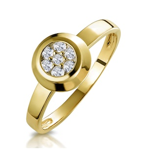 0.15ct Diamond Solitaire Ring in 9K Gold