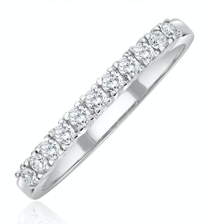 Half Eternity Ring 0.30CT Diamond 9K White Gold