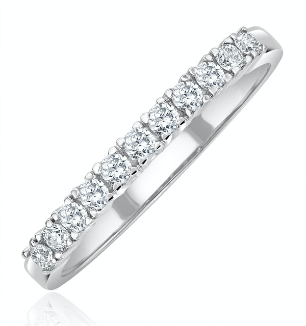 Half Eternity Ring 0.30CT Lab Diamond 9K White Gold - image 1
