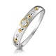 Three Stone Rubover Diamond Set Band in 9K White Gold - image 1