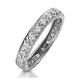 Eternity Ring 0.33CT Diamond 9K White Gold - image 1
