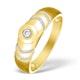 9K Gold Diamond Set Solitaire Ring - E3749 - image 1