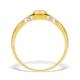 9K Gold Diamond Set Solitaire Ring - E3749 - image 2