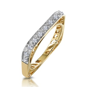 Unique Diamond Set Square Eternity Ring