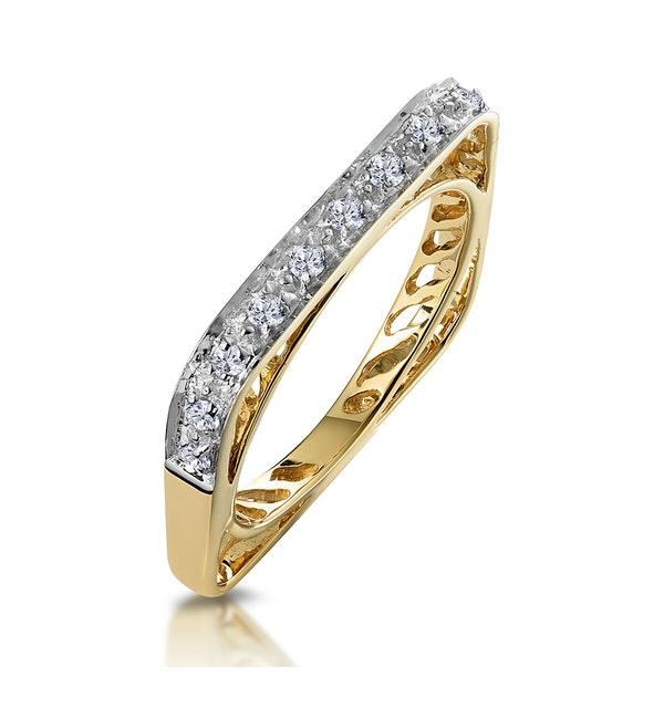 Unique Diamond Set Square Eternity Ring - image 1