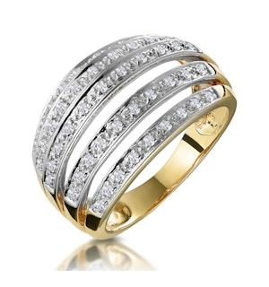 0.40ct Diamond Pave Set Five Row Half Eternity Ring