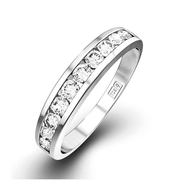 Rae 0.50CT Diamond Half Eternity Ring 9K White Gold - image 1