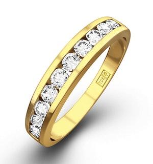 Rae Half Eternity Ring 0.50CT Diamond 9K Yellow Gold