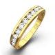 Rae Half Eternity Ring 0.33CT Diamond 9K Yellow Gold - image 1