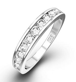 Rae Half Eternity Ring 0.75CT Diamond 9K White Gold