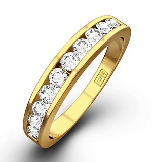 Rae Half Eternity Ring 0.75CT Diamond 9K Yellow Gold