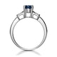 Sapphire 1.25ct And Diamond 9K White Gold Ring - image 2