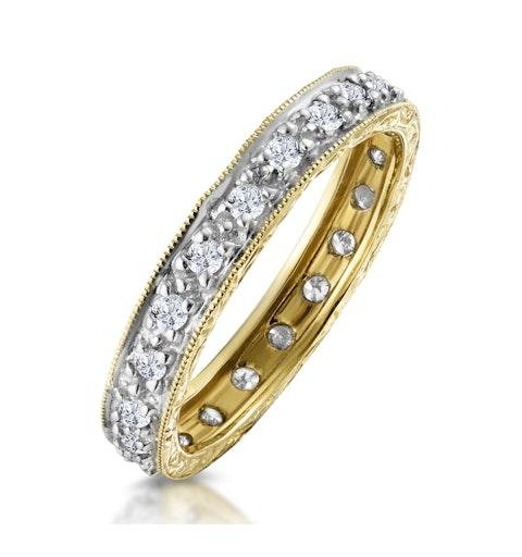 Eternity Ring 0.33CT Diamond 9K Gold - image 1