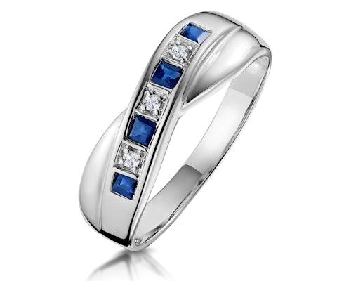 Princess Cut Sapphire Rings