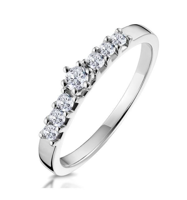 Sidestone Engagement Ring With 0.33ct of Diamonds set in 9K White Gold - image 1
