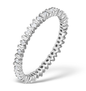 9K White Gold Diamond Claw Set Full Eternity - E4831